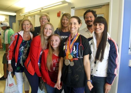 IMG_2036 Olympians with nurse Anna-2