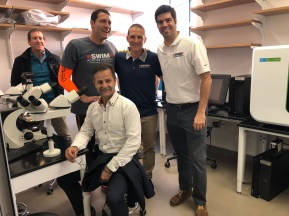 Rob Butcher, Event Director Brad Johnson, Ryan Baucom and Dr. Gustavo Leone (Seated)